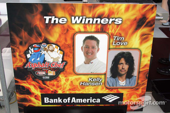 Asphalt Chef event: The Winners, Tim Love and Kelly Hansen