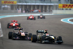 Jarno Trulli, Lotus F1 Team leads Jaime Alguersuari, Scuderia Toro Rosso