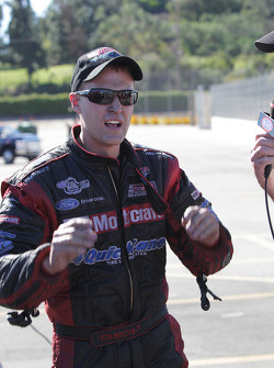 Bob Tasca exuberant moments after defeating Matt Hagan at the Auto Club NHRA Finals