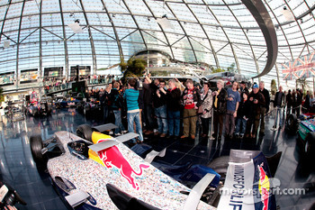 A Red Bull Racing car and Sebastian Vettel