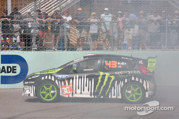 Ken Block in his Ford WRC car