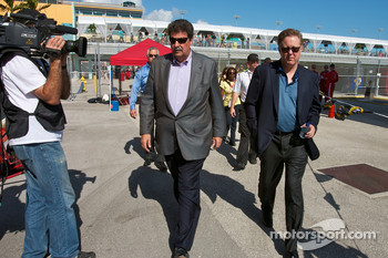 NASCAR President Mike Helton and NASCAR CEO and Chairman Brian France
