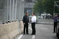 Uwe Fromhold Racedirector, Jürgen Kastenholz DTM Safetycar Driver, Roland Bruynseraede FIA