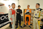 Tom Kristensen, Alvaro Parente, Jeroen Bleekemolen and Bertrand Baguette