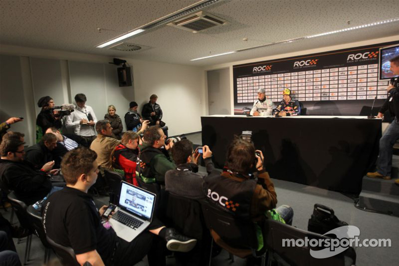 Press conference: Nations Cup winners Michael Schumacher and Sebastian Vettel for Team Germany