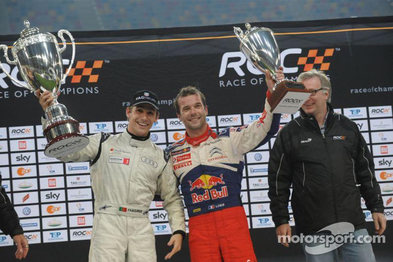 Podium: Race of Champions winner Filipe Albuquerque, second place Sébastien Loeb