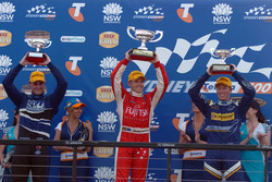 Podium: Shane Van Gisbergen, Lee Holdsworth and Steven Richards