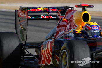Red Bull DRS wing in open position
