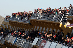 Fans watch from the grandstands
