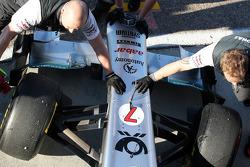 Michael Schumacher, Mercedes GP F1 Team, MGP W02, detail