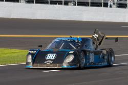 #90 Spirit of Daytona Racing Chevrolet Coyote: Paul Edwards, Antonio Garcia, Sascha Maassen on pit lane with damage