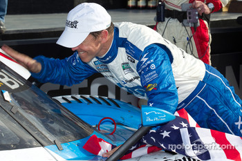 DP victory lane: class and overall winner Scott Pruett celebrates