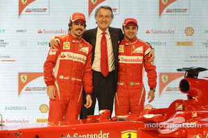 Fernando Alonso, Luca di Montezemolo, Felipe Massa