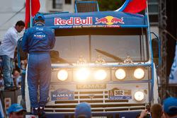 Podium: truck category second place Firdaus Kabirov, Aydar Belyaev and Andrey Mokeev