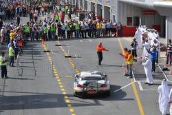 Race winner #76 Need for Speed Schubert BMW Z4 GT3: Augusto Farfus, Edward Sandström, Tom Milner, Claudia Hürtgen enters parc fermé
