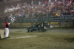 Kevin Swindell beats his father Sammy Swindell in a photo finish