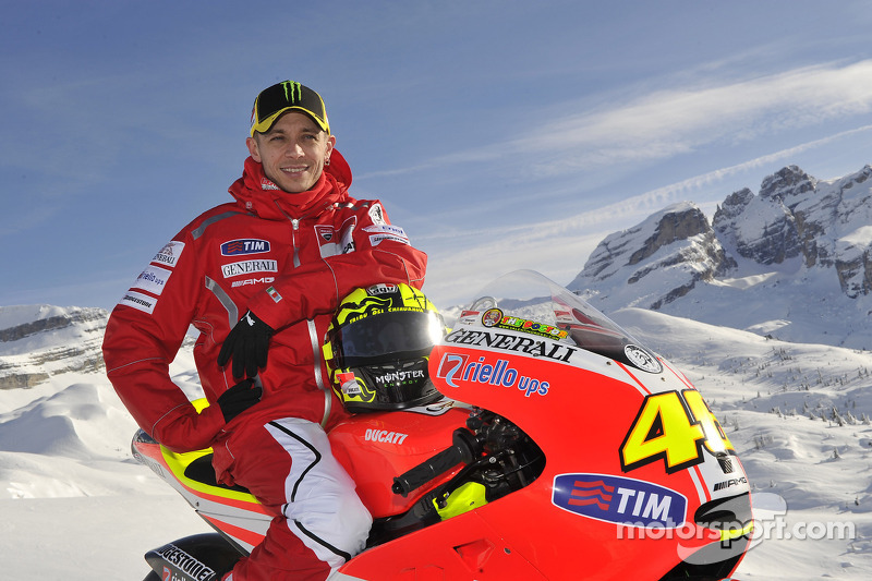 Valentino Rossi, Ducati, at the Ducati Desmosedici GP11 presentation