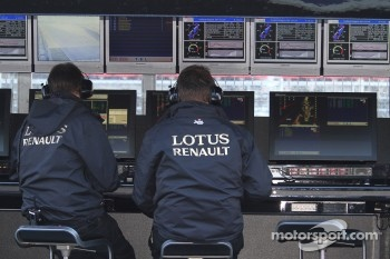 Lotus Renault engineers