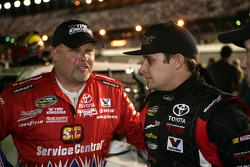 Todd Bodine, Germain Racing Toyota and Justin Lofton, Germain Racing Toyota