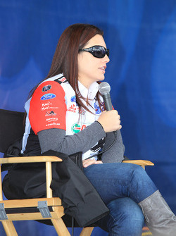 Ashley Force Hood during Auto Club fan meeting