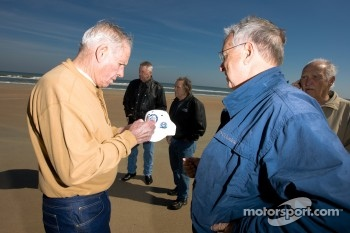 Living legends of auto racing beach parade: David Pearson