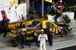 Pit stop for Brendan Gaughan, Germain Toyota