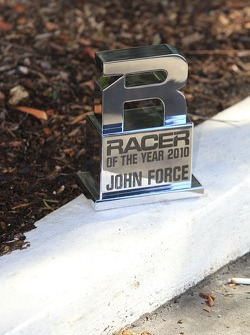 Racer of the year award based upon fan poll John Force recipient