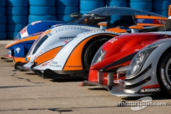 Group shot of the 12 Hours of Sebring cars