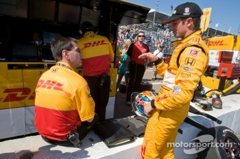 Ryan Hunter-Reay, Andretti Autosport after a crash