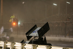 Tim Kaeding spins on the front stretch