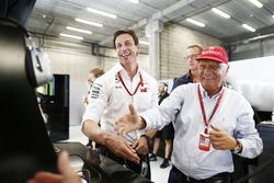 Toto Wolff, Mercedes AMG F1 Motorsportchef mit Niki Lauda, Mercedes Geschäftsführer