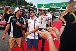 (L to R): Sergio Perez, Sahara Force India F1 and Felipe Massa, Williams on the drivers parade