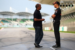 Lewis Hamilton, McLaren Mercedes and his father Anthony Hamilton