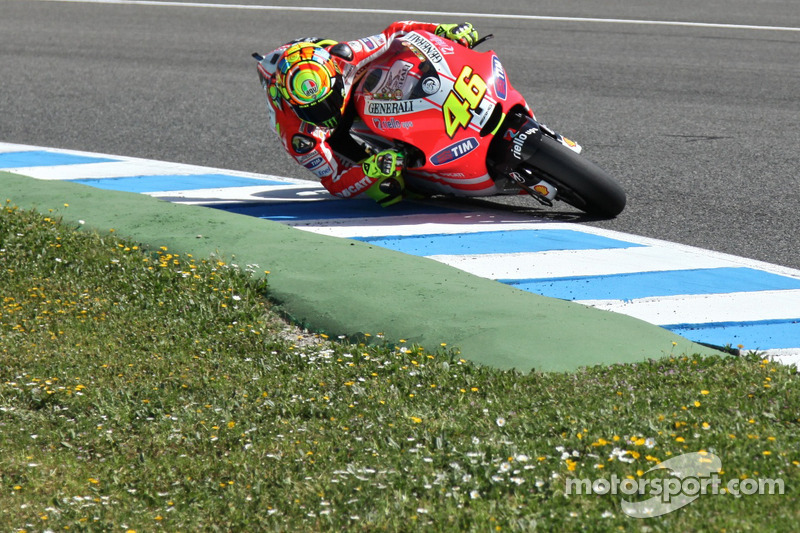 Valentino Rossi, Ducati Team, tests the new Ducati GP12
