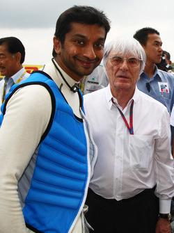 Narain Karthikeyan, Hispania Racing F1 Team with Bernie Ecclestone