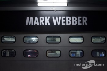 Garage of Mark Webber, Red Bull Racing