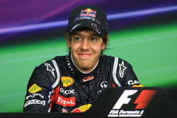 Post-race press conference: race winner Sebastian Vettel, Red Bull Racing