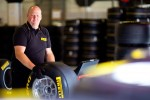 Pirelli tyre fitter at work