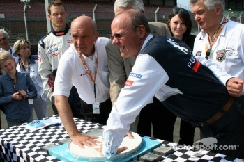 Dr. Wolfgang Ullrich and Olivier Quesnel commerate 20 years of the hand imprint ceremony