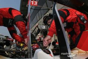 Rebellion Racing team members at work