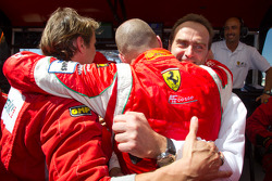 GT pole winner Gianmaria Bruni celebrates