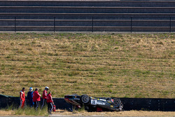 Heavy crash for #99 Ferrari of Ft. Lauderdale Ferrari 458 Challenge: Rafael Sportelli