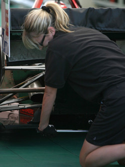 HVM Racing crew member at work