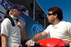 Ryan Dalziel and Oriol Servia