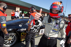Race winner #55 Boardwalk Ferrari/Level 5 Ferrari 458 Challenge: Scott Tucker celebrates