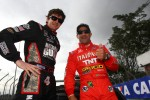 J.R. Hildebrand, Panther Racing and Tony Kanaan, KV Racing Technology-Lotus