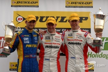Round 7 podium 1st Gordon Shedden, 2nd Matt Neal, 3rd Andrew Jordan