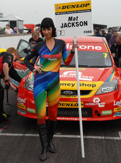 Mat Jackson, Airwaves Racing Grid girl