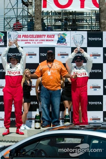 Celebrity race podium with Bucky Lasek