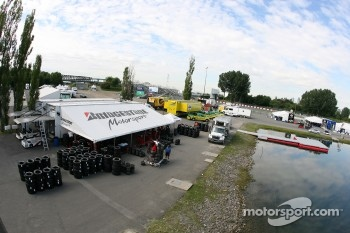 Bridgestone paddock area